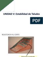 Unidad v.- Estabilidad de Taludes