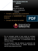 UNI II Taxonomia de Los Tipos de Mantenimiento y Conservacion Industrial