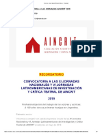 Jornadas AINCRIT 2019
