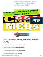 Css 2005-2017 _ Solved Papers _ Pakistan Affairs (Mcqs) _ Download in PDF _ Gcaol Css_pms
