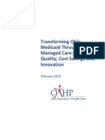 Ohio Association of Health Plans 2019 Report