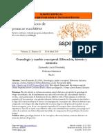 Cuesta Fernandez. Genealogía y cambio conceptual. Educación, historia y memoria