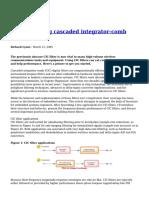 Understanding Cascaded Integrator Comb Filters