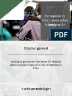 Estudio Percepción de Los Chilenos Sobre La Inmigración