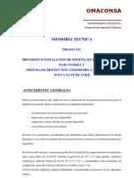 Memoria Tecnica Sistema de Puesta a Tierra Nueva Nave Word.docx