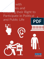 Differently Abled Persons Right to Vote