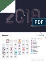 Sendible Social Calendar 2019