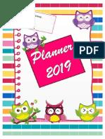 Planne 2019 Corujinhas Lipitipi