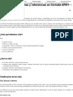 ¿Cómo hacer citas y referencias en formato APA?