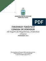 Tarifario de Servicios 2015