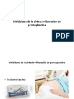 Inhibidores de la síntesis y liberación de prostaglandina