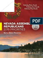 Nevada Assembly Republican Priorities 2019