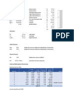 Abutment Design Spreadsheet format