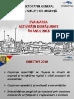 Analiza activități Inspectoratului General pentru Situații de Urgență din anul 2018
