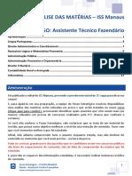 eBook FCC ISS Manaus Assistente Técnico Fazendário - Pós Edital