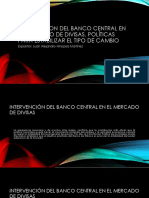 Intervencion Del Banco Central en El Mercado De