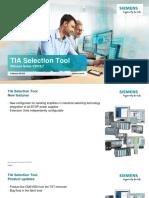 Release Notes TIA Selection Tool En