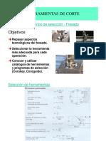 Unidad II. HERRAMIENTAS de CORTE. 2.1 Htas Corte - Seleccion Fresadora AP