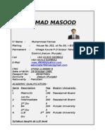 Cv of Masood