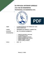 Clasificación de Vehículos y Sus Características