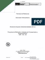 Eia-d Proyecto Refinacion - Sub Sector Hidrocarburos