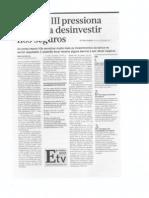 Basileia III pressiona bancos a desinvestir nos seguros