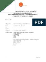 Development Proposal for 101 Brady Street in Allegan, Michigan