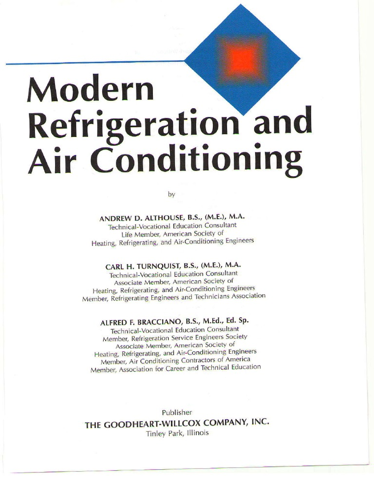 Modern Refrigeration and Air Conditioning pdf | Air