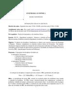 Programa - Engenharia Econômica
