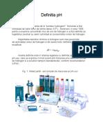pH Teorie Si Practica