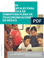 Elementos Fundamentales Para Una Política de Cobertura Plena de Telecomunicaciones en México