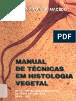 Manual de Técnicas em histologia Vegetal