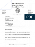 SLED Extortion Investigation Letter