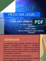 1era Semana-1era Sesion. Medicina Legal-historia y Clasificación.