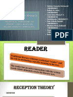 Literary Appreciation based on Reader-oriented approaches