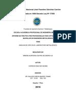 Informe Técnico de Operaciones Metalúrgicas de La Planta de Procesos Inkarri -001