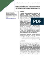 CLASSIFICAÇÃO DE BLACK PARA BIBLIOTECA ESPECIALIZADA EM ODONTOLOGIA