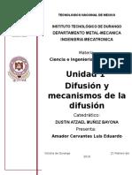 Difusion y mecanismos de la difusion