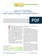 A Module for Modeling and Control Design of Flexible Robots