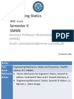Lecture 1 2 3 Engineering Statics