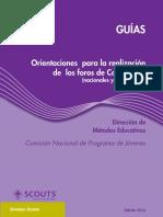 Guía Orientaciones para la realización de los Foros de Comunidad (nacionales y provinciales)