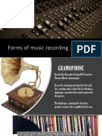 forms of music recording