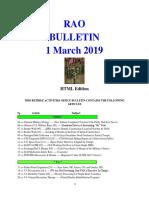 Bulletin 190301 (HTML Edition)