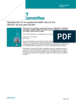 Management of occupational health risks in the offshore oil and gas industry by Oil Industry Advisory Commitee