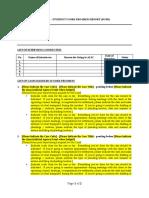 CLED 101 Student Work Progress Report