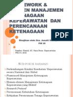 Framework & Elemen Manajemen Ketenagaan Keperawatan Dan Perencanaan New