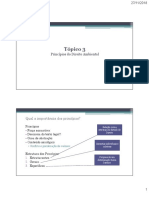 Tópico 3 - Princípios de Direito Ambiental