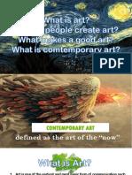Fine Arts, Decorative Arts, And Performing Arts