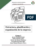 Estructura Planificación Y Organización De La Empresa 1
