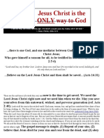 Jesus Christ is the Only Way to God